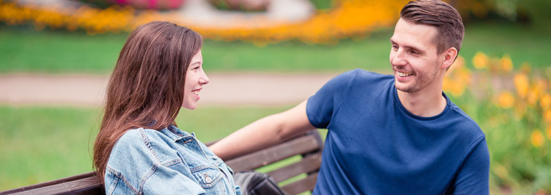 Smiling Couple After Dentist Kalamazoo, MI | Karen Mitchell Dentistry
